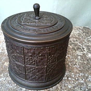 Embossed Metal Canister.... Another Humidor ?/ Marked Germany - Tobacciana