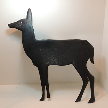 Cast Iron Figures - Deer & Indian