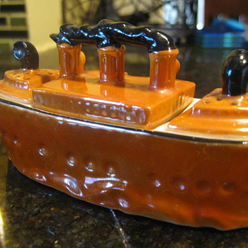 Lustre Steam Ship - Art Pottery