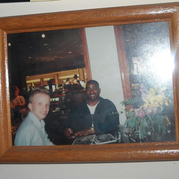 Cris Carter and I, and an autographed photo of Bob Lurtsema - Football