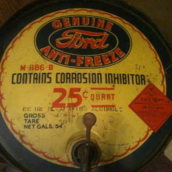 Vintage Ford Antifreeze 54 gallon drum