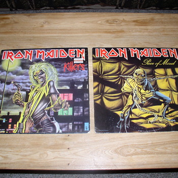 Iron Maiden killers and piece of mind lp records