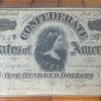 1864 Confederate Note