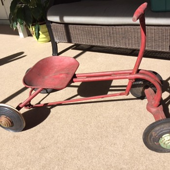 Four Wheeled Antique Child's Bike - Wood and Metal - Toys