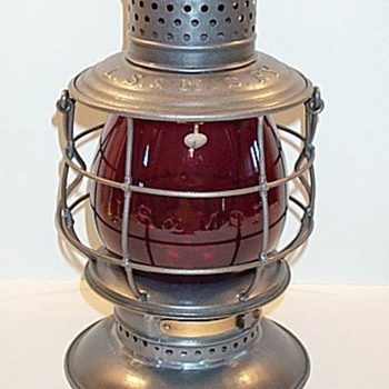 LS&MS Railroad Lantern by Parmelee & Bonnell - Railroadiana