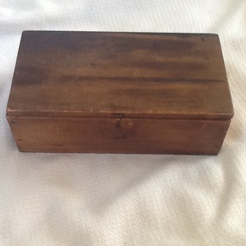 Old wooden soap box