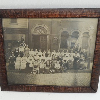 Old Photo in a Great Frame - Ruthenian Gr. Cath Church of St. John the Baptist -Newark NJ - c. 1915