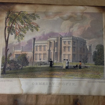 ORMESBY HOUSE (norfolk) Londen Pub. Jan 1, 1824 J.P.NEALE - Posters and Prints