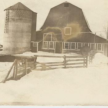 Old  family Barn photo from early 1900's  - Photographs