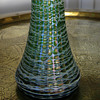 Iridescent Tall Threaded Vase