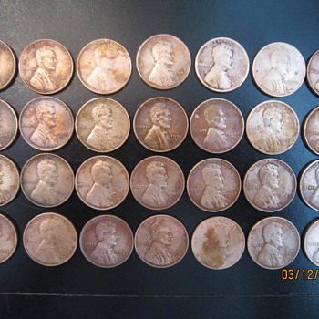 How I found an Assortment of Wheat Pennies From 1911 through Early 1950's - US Coins