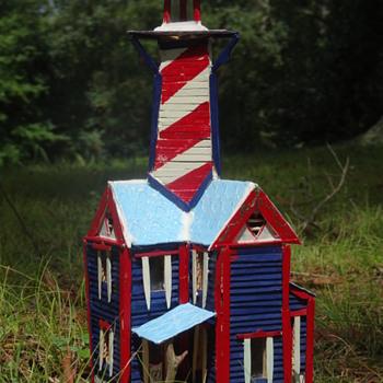 Popsicle Stick Lighthouse - Popsicle Stick House - Popsicle Stick Art