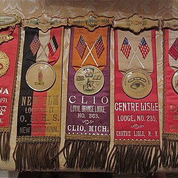 Odd Fellows ribbons, Turn of the century style