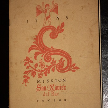 Brochure for Mission San Xavier del Bac in Tucson, AZ