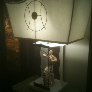 My Moss Lamp that Spins - I love this lamp!!