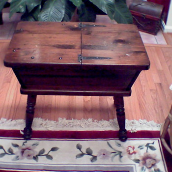 Vintage solid wood chest(?) made by George B. Bent Co., Inc. of Gardener Ma. 01440