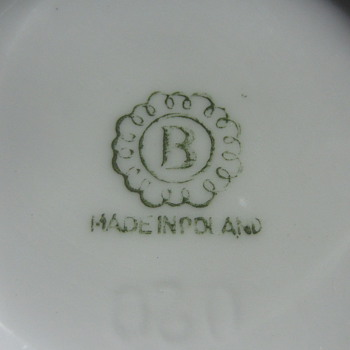 "Made in Poland. Shadow number ""080"" - China and Dinnerware"