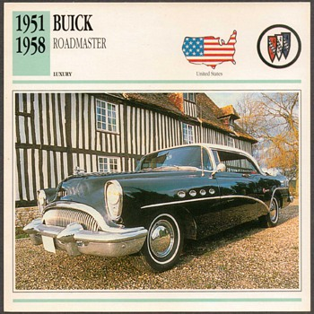 Vintage Car Card - Buick Roadmaster