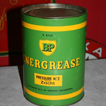 BP Energol grease can