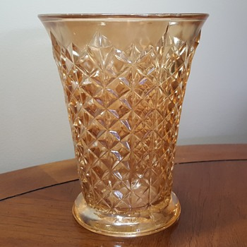 Sowerby Carnival Glass Vase
