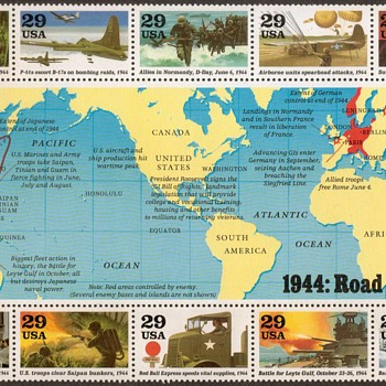 1994 - World War II Souvenir Sheet (U.S. Postage) - Stamps