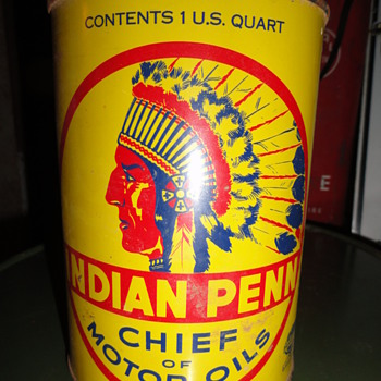 Indian Penn Oil Can ORIGINAL pick from AZ barn.