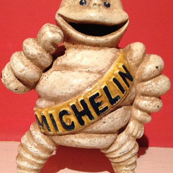 Michelin man made of cast iron  - Advertising