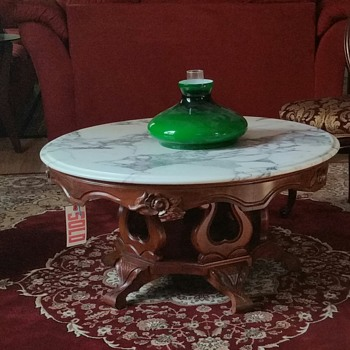 Rococo Mahogany Mable top coffee table?