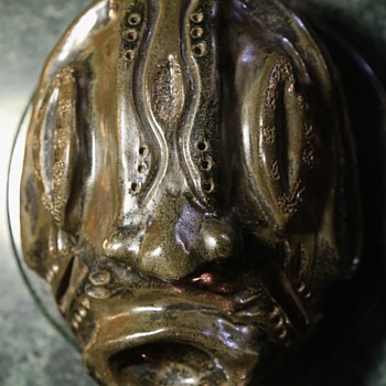 Strange Pottery Face / Mask by Kim Richards '03 - Art Pottery