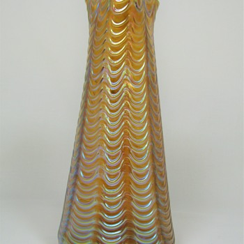 "Loetz Orange ""Aeolus"" ca. 1902  - Art Glass"