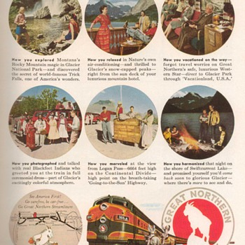 1955 - Great Northern Railway Advertisement - Advertising