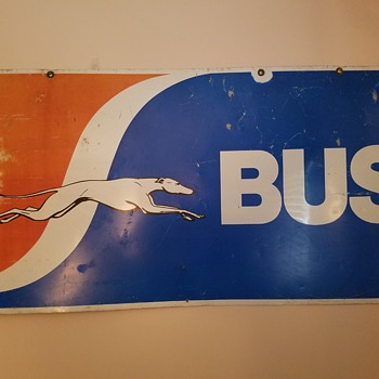 Greyhound Bus sign