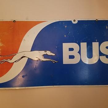 Greyhound Bus sign - Signs