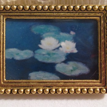 Monet? brooch - Costume Jewelry