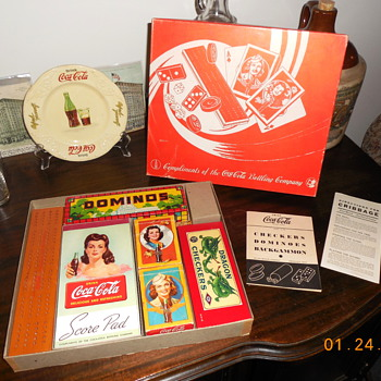 1940's Coca-Cola Game Set