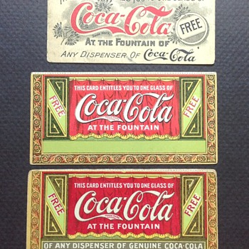 1905 and Pre-1900's Free Drink Coupons