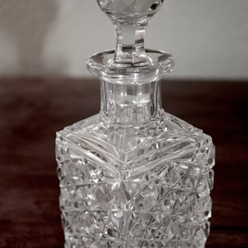 American Brilliant Cut Glass Cologne in Russian Pattern - Glassware