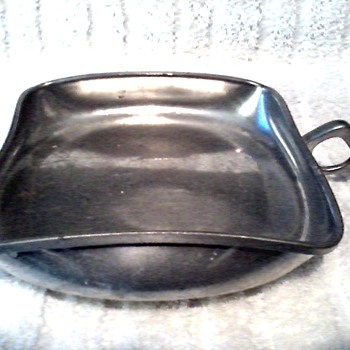 """Brodrene Mylius"" B & M Pewter Norway/Square Handled Server /Circa 1950"