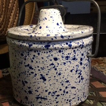 A Little Speckled Crock - Art Pottery