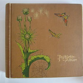 Jugendstil Postkartenalbum - Postcards