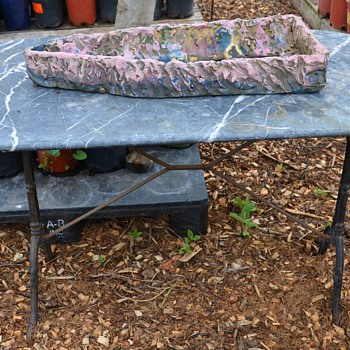 Marble-topped Iron Garden Table - Furniture