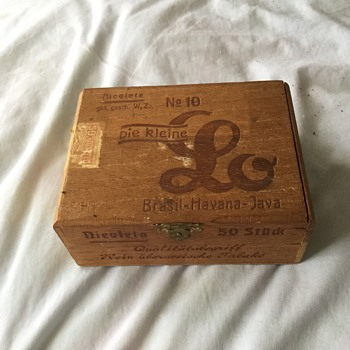 Recent cigar box discovery