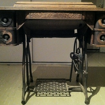 Late 1800's sewing machine cabinet