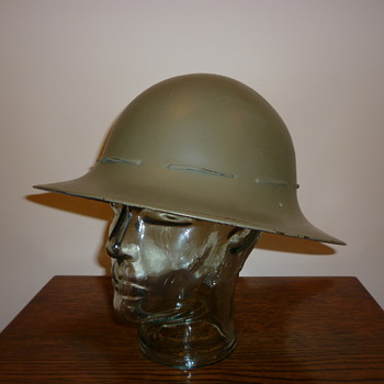 British WWII Civil Defence steel helmet