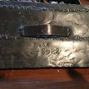 Homemade Metal Box with Algoa 2-2-82 engraved on it - Furniture