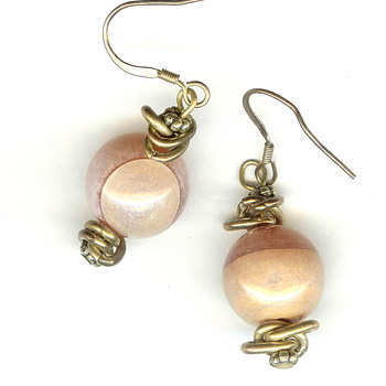 "Vintage Glass ""Marble"" Earrings"