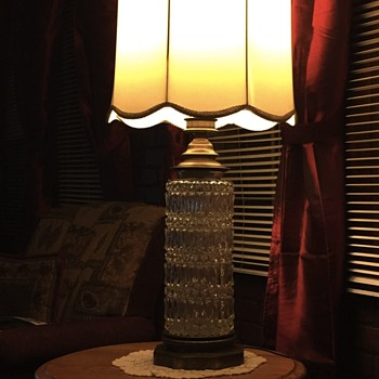 Vintage lamp crystal brass base