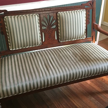 Antique Wood Settee