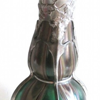 RINDSKOPF PEWTER-MOUNTED EWER - Art Glass