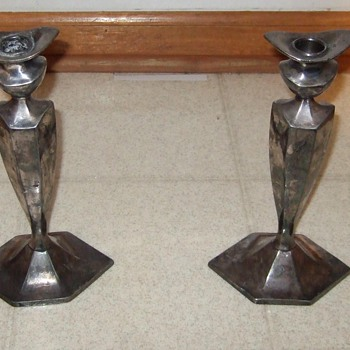 Sheffield Plate Candle Holders